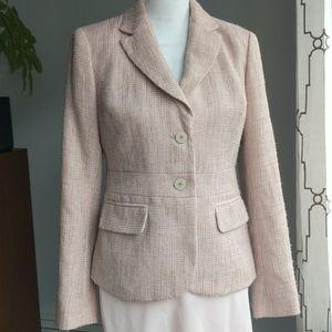 New York & Company pink gold Blazer suit jacket, 4